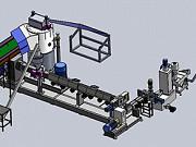 Двухкаскадный гранулятор для полимеров и пластика с водокольцевой резкой гранул Москва