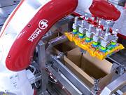 Роботизированный комплекс по укладке флоу-паков в гофрокороб. Паллетирование Подольск