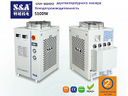 Оптоволоконный лазерный резак 1000Вт охлаждается двухтемпературным и двухнасосным чиллером S&A CW-62 Москва